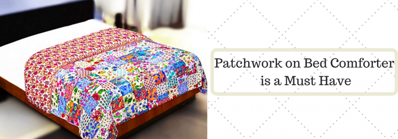 Patchwork on Bed Comforter