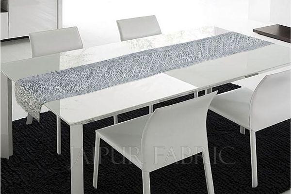 Green Tropical Design Table Runner