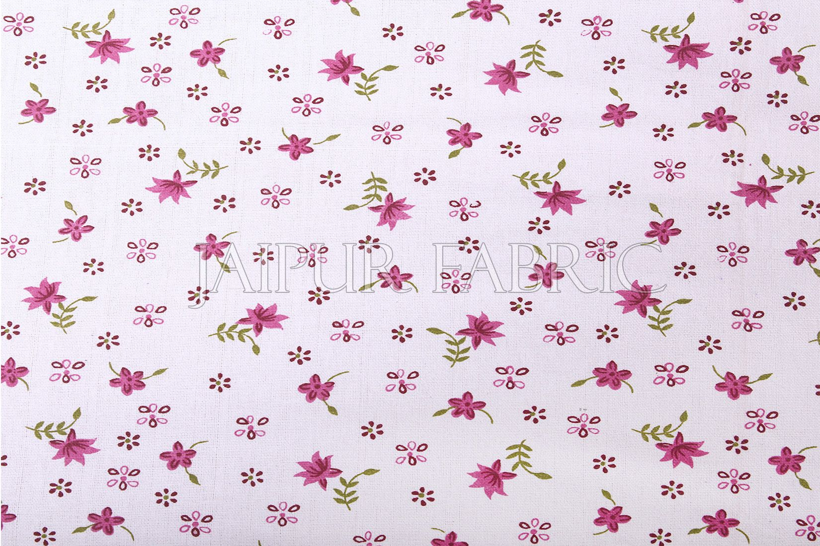 White Base Purple Flower Print Cashmere Cotton Double Bed Sheet