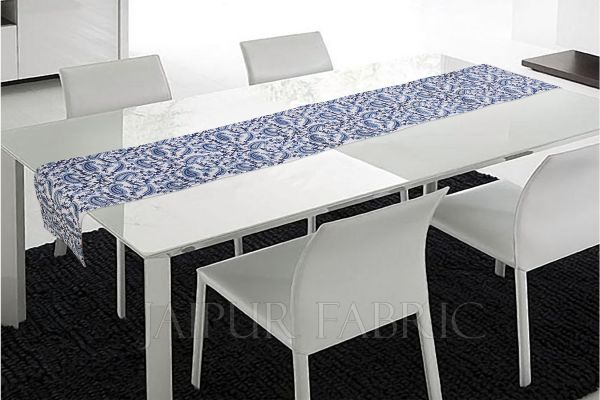 Blue Keri Printed Table Runner