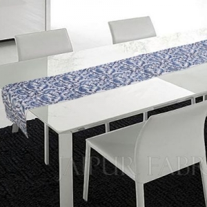 Blue Keri Printed Table Runner