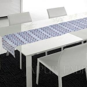 Blue Zigzag Table Runner