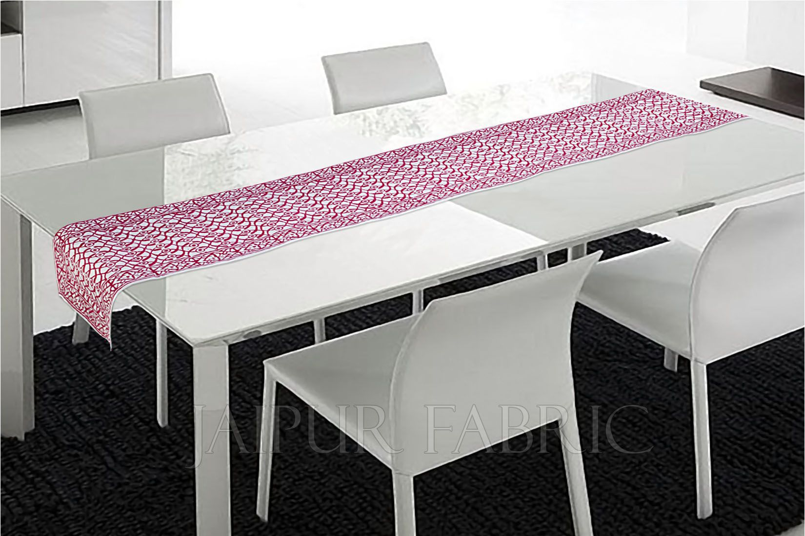 Pink Printed Table Runner