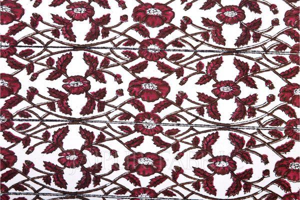 Maroon Floral Printed Mat