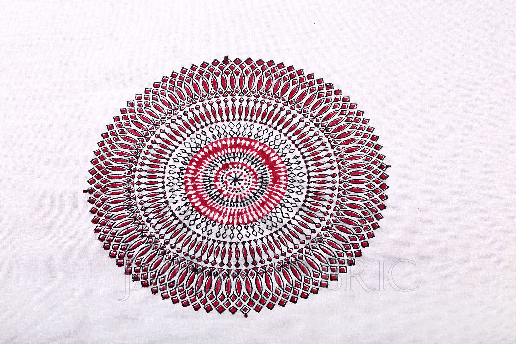 Red Barmeri Print Table Cover