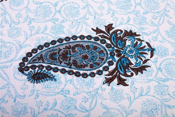 Blue Keri Print Table Cover