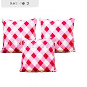 Pink checkered Plaid Pattern Cushion Cover