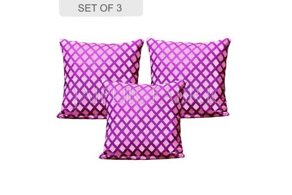 Amethyst Color Purple Square Print Cushion Cover