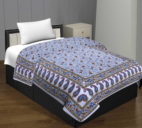 Jaipuri Quilt Floral Print 200Gsm Fine Cotton Single Bed Rajai