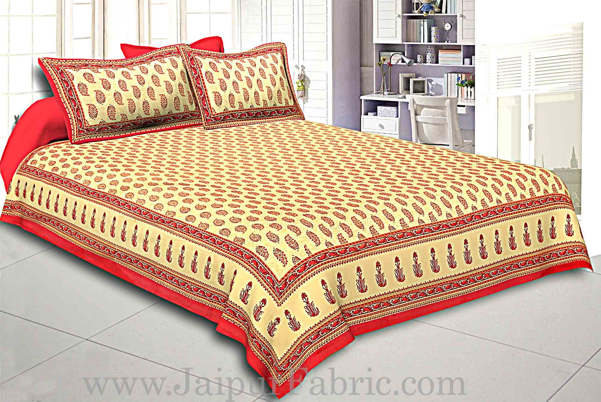 King Size Double Bedsheet  Hand Block Print Super Fine Cotton