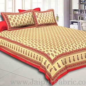 King Size Double Bedsheet  Hand Block Print Super Fine Cotton