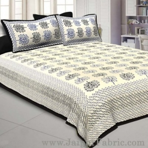 Black Trees Double Bedsheet With 2 Pillow covers