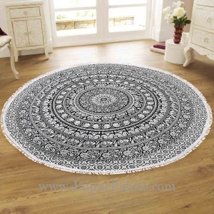Black and White Floral And Rangoli Roundies