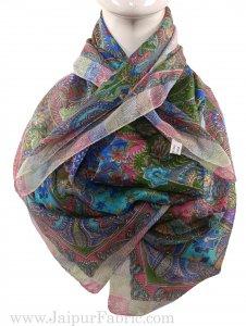 Silk Scarf Floral Diamond pattern