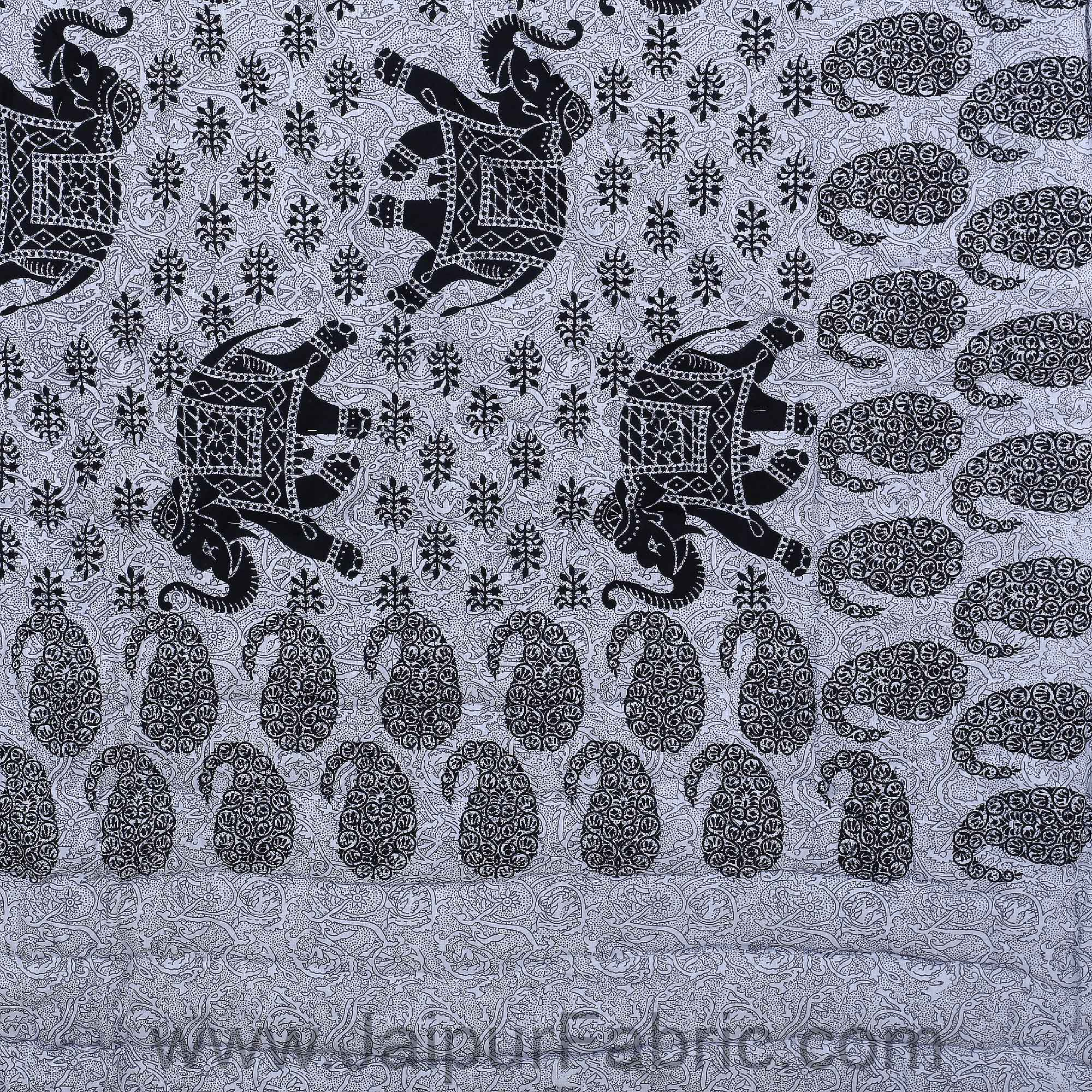 Jaipuri Quilt Elephant Print 200Gsm Fine Cotton Single Bed Rajai