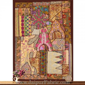 Indian Embroidered Wall Decorations Decorative Hanging - Wall Hanged with Precious Stones