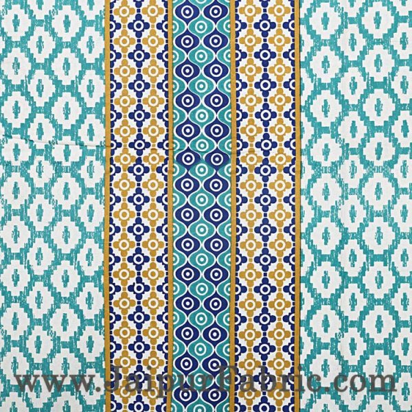 Double Bedsheet Royal Blue Border Rectangle Print
