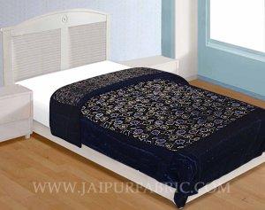 Single Bed  Velvet  Quilt Multi Floral Design print