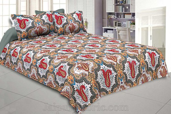 Double Bedsheet Twill Cotton Breath Easy Nature Love Redwood
