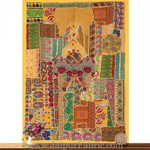 Wall Hanging Embroidered  Decorative Hanging - Wall Hanged with Precious Stones