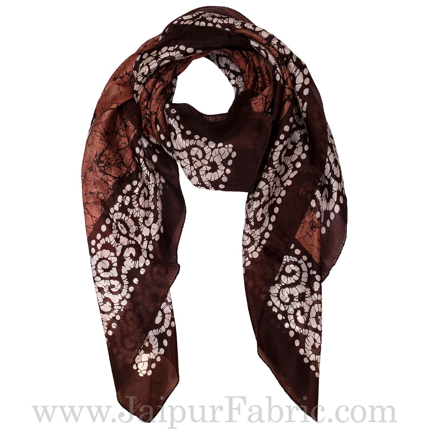 Silk Scarf with Bandhej design