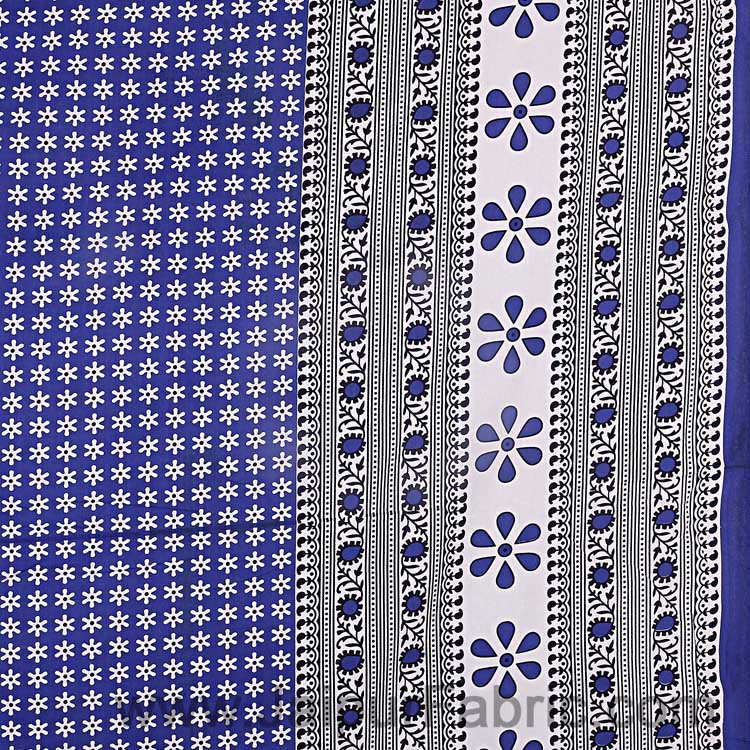 Double Bedsheet Blue Color Rangoli Print