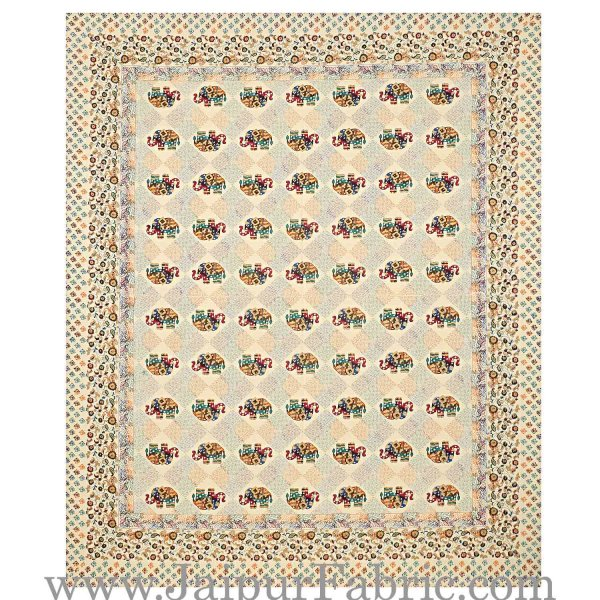 Jaipur Razai Double Bed With Satrangi Elephant Pattern Combo Pack