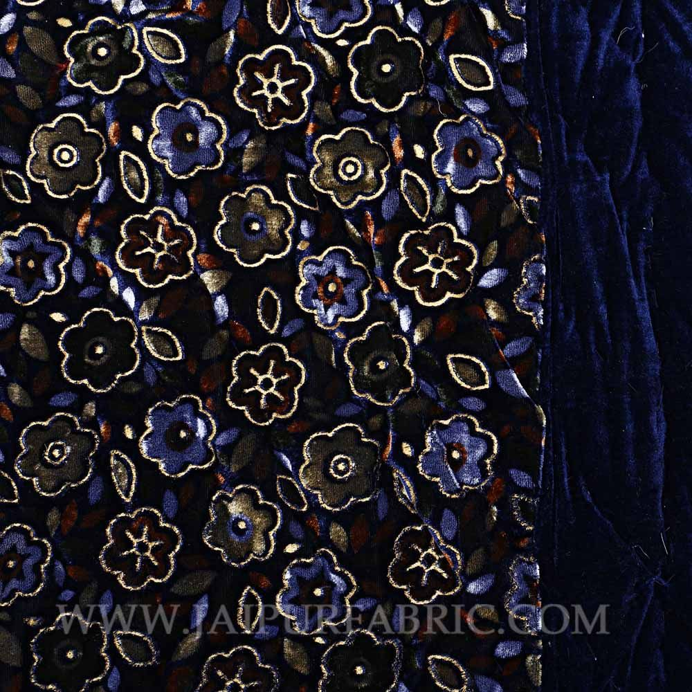 Single Bed  Velvet  Quilt Multi Floral Design print