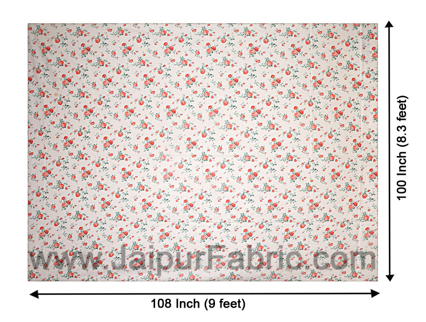 Pure Cotton 240 TC Double bedsheet in green bouquet print