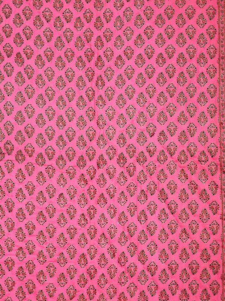 Rani Border Rani Base Bell Boota Print  Both Side Print Cotton  Single Quilt
