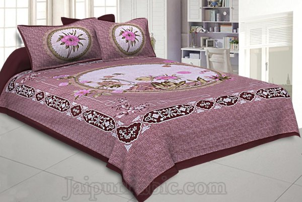 Pastel Earth Dark 240 TC Double Bedsheet