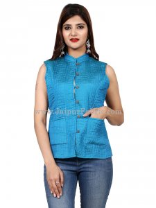 Women Sky Blue Light Jacket