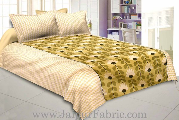 Pastel Green Double BedSheet