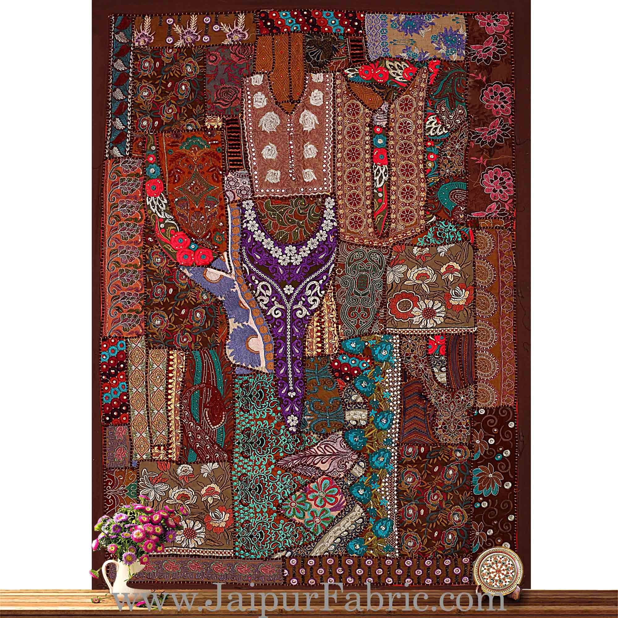 Wall Hanging Embroidered patchwork Unique Designs
