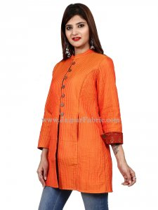 Women Orangish Jacket