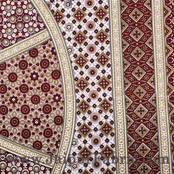 Sanganeri Double Bedsheet in Tan Brown shade