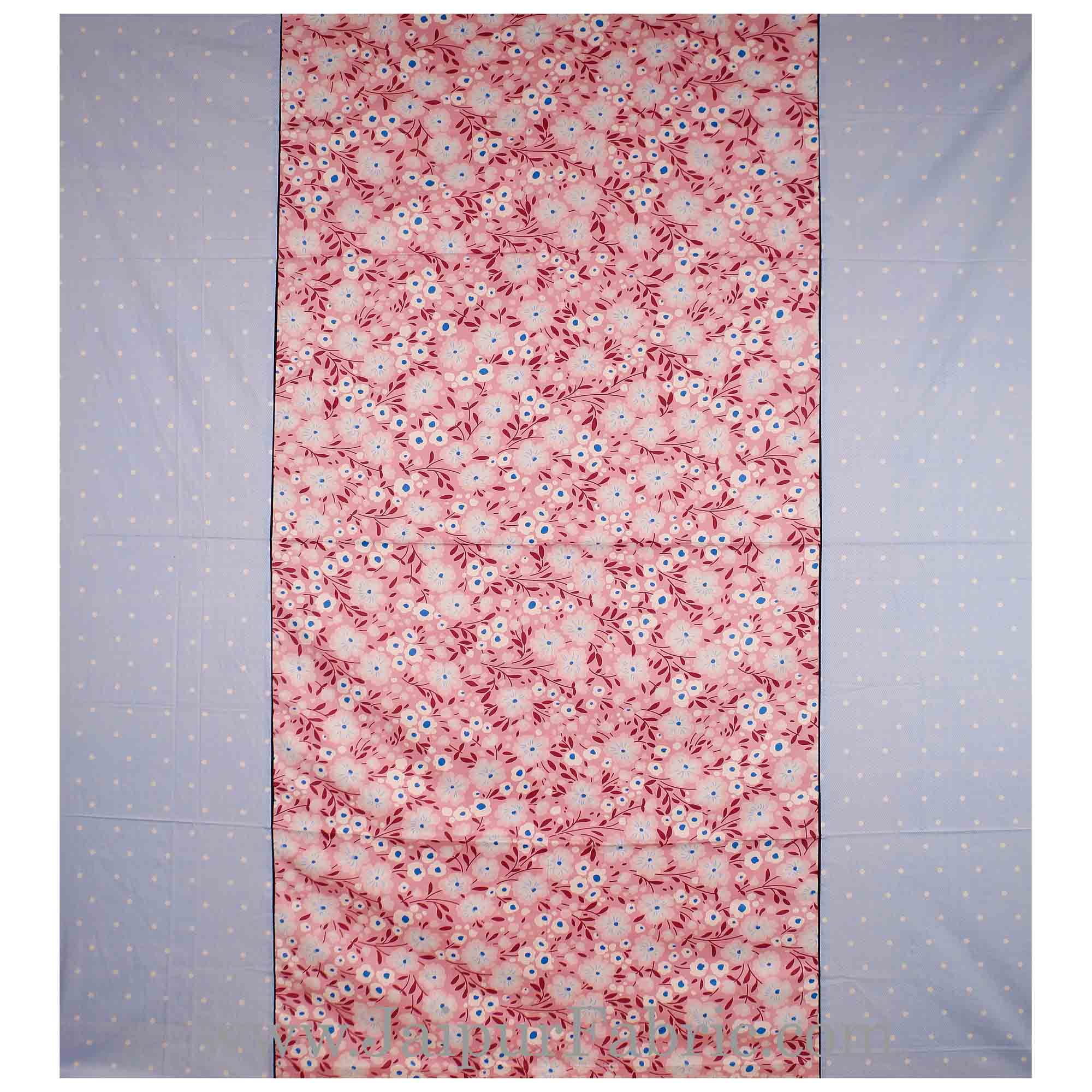 Blooming Blue Mauve Double Bedsheet