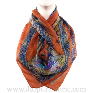 Silk Scarf Orange Heritage Design