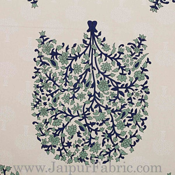 Double bedsheet Grey Small Tree Smooth Cotton Screen Print