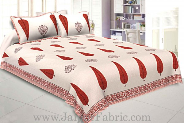 Double bedsheet Red Long Tree Smooth Cotton Screen Print
