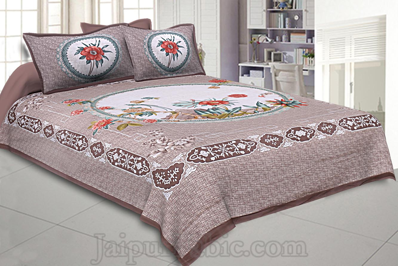 Pastel Earth Light 240 TC Double Bedsheet