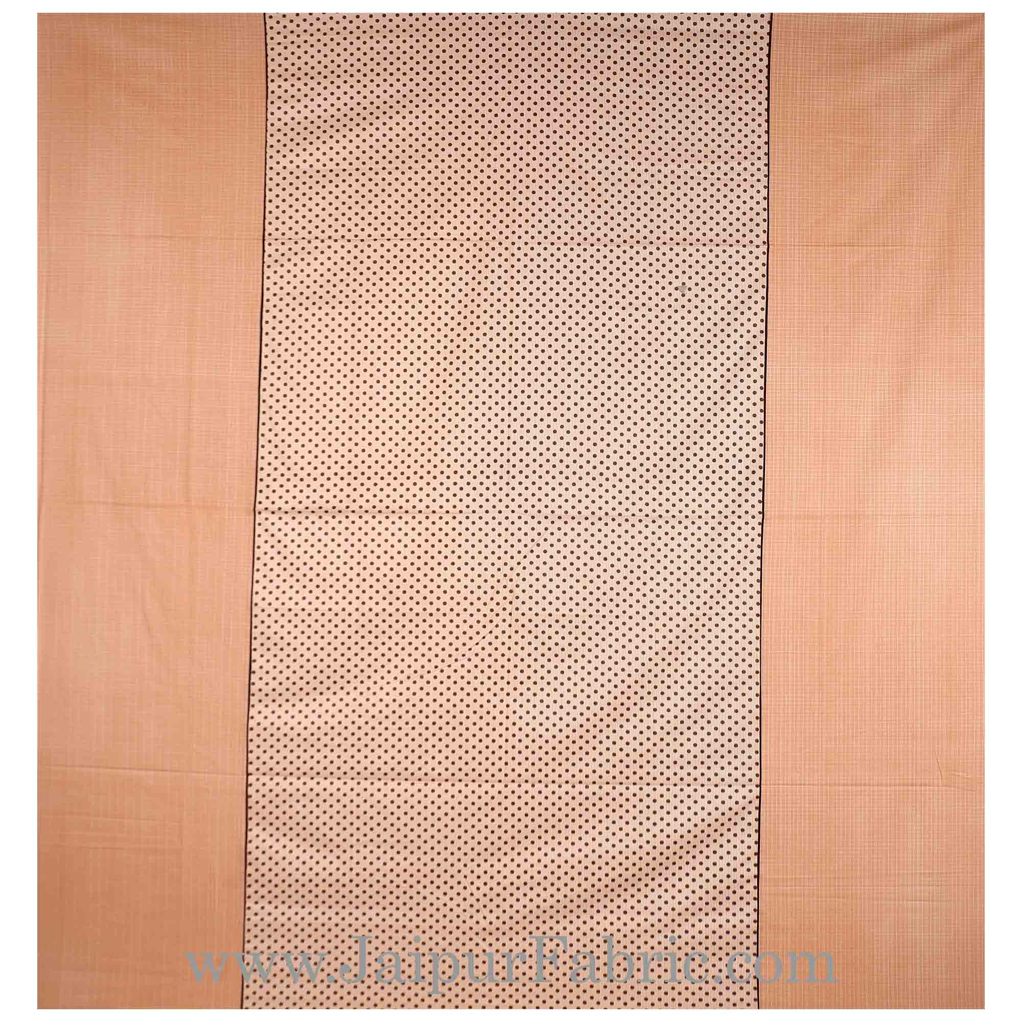 Pleasant Peach Polka Double Bedsheet