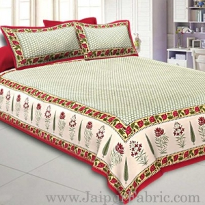 Double Bedsheet With Big Dot Super Fine Cotton Smooth Touch