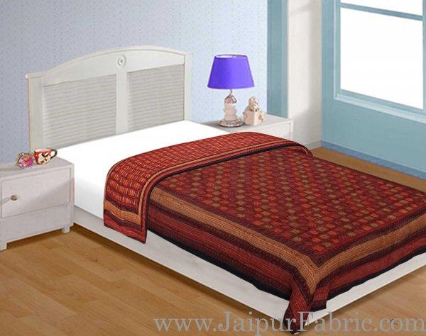 Jaipuri Razai/Quilt  Check Dabu Print Fine Cotton