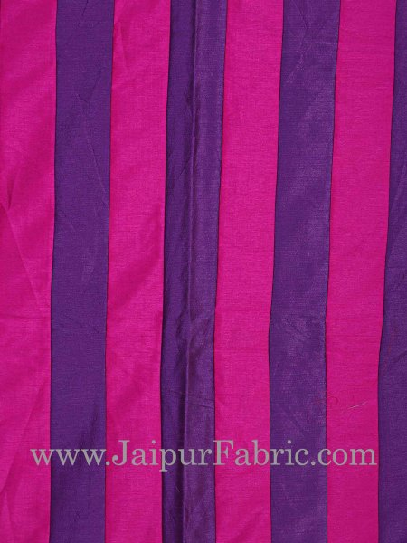 Blue And Rani Color Long Lining Silk festive Double Bed sheet