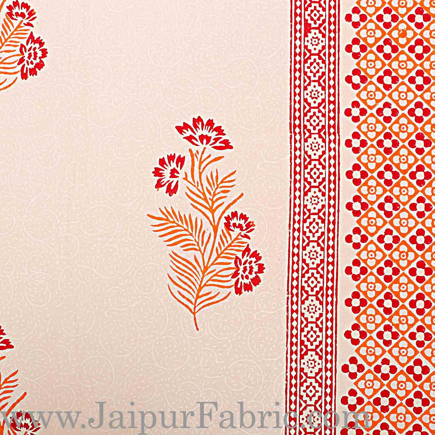Double Bed Sheet White Base With Kadi Print Blue PaisleyButa Hand Block Print Super Fine  Cotton