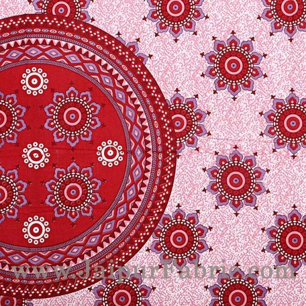 Paisley Pink Double Bedsheet