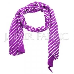 Purple Lahariya Stole