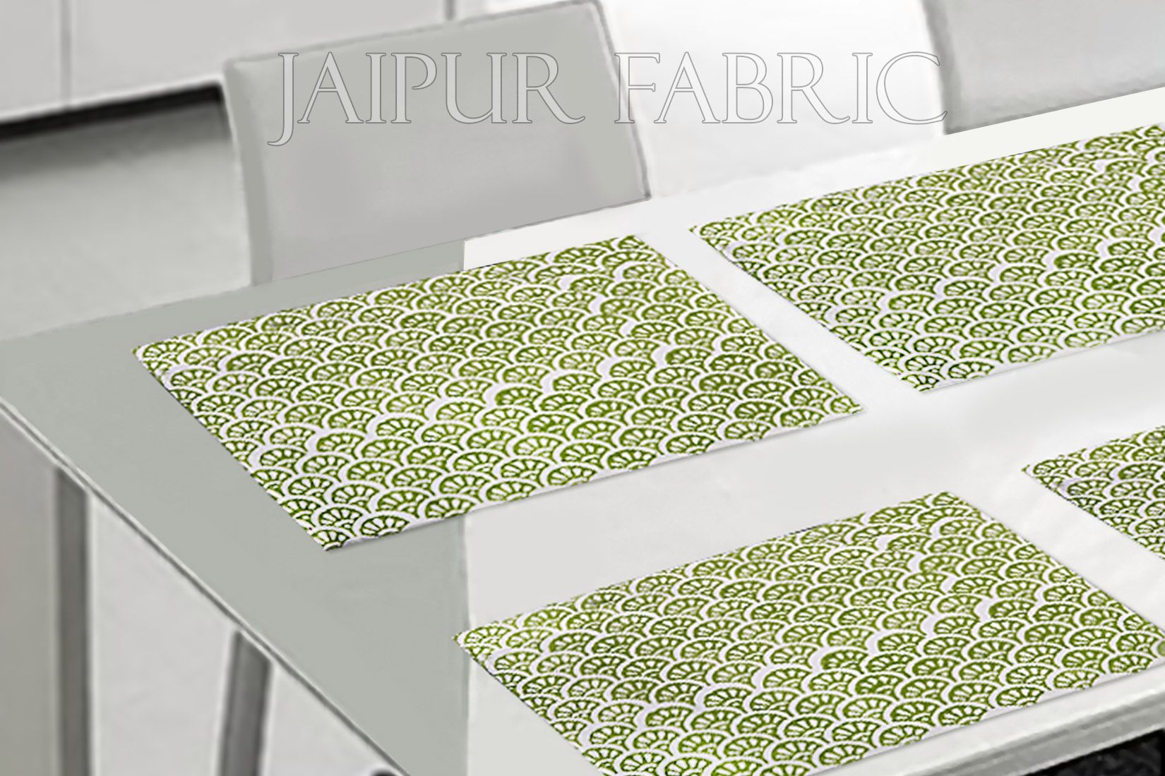 Green Tropical Design Table Mat