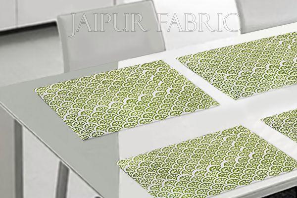 Green Tropical Design Table Mat